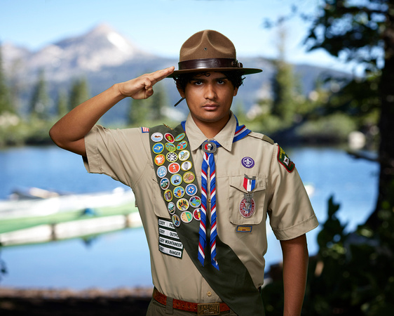 Alejandro Avila saluting Cody Lake Background 8x10v2